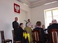 Komendant Mirosław Mojsa chętnie odpowiadał na pytania