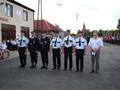 Strażcy odznaczeni srebrnymi medalami za zasługi dla pożarnictwa.