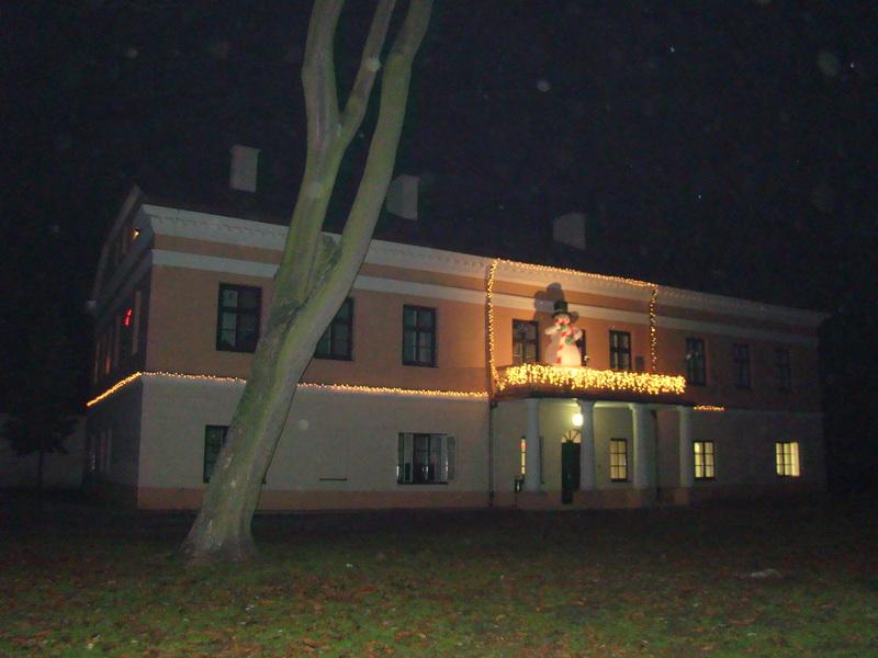 złoczewski pałac nocą